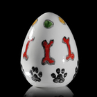 Jajko z psim motywem praca Marka Kotarby wykonana z porcelany ćmielowskiej ręcznie malowanej CJ1