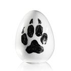 Jajko z łapą praca Marka Kotarby z porcelany ćmielowskiej ręcznie malowanej CJ5